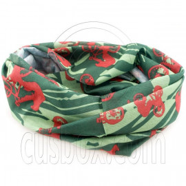 Green Red Bike Cycling Hiking Bandana Bandanna Scarf