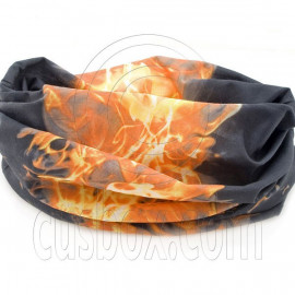 Black Flame Cycling Hiking Bandana Bandanna Head Scarf