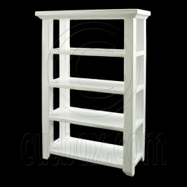 White 4-Layer Storage Floor Rack Dollhouse Furniture