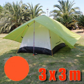 Tarp Tarpaulin Tent Shelter Heavy Duty L (ORANGE RED)
