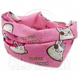 Pink White Rabbit Cycling Hiking Bandana Bandanna Scarf