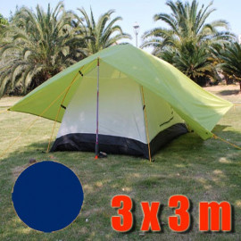 Tarp Tarpaulin Tent Shelter Heavy Duty L (DARK BLUE)