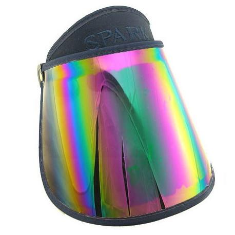 Sunlight UV Protection Reflective Mirror Visor (Dark Blue)