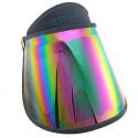 Sunlight UV Protection Reflective Mirror Visor Hat (Dark Blue)