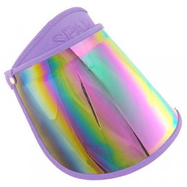 Sunlight UV Protection Reflective Mirror Visor Hat (PURPLE)