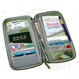 Functional Pocket Passport Ticket Holder Case Pouch Bag