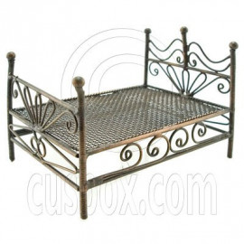 Bronze Wire Nursery Child Bed Doll's Dollhouse Furniture