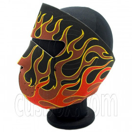 Red Flame Head Neoprene Full Face Mask Biker Motorcycle