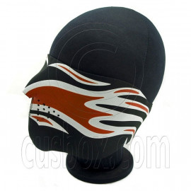 Red Flame Neoprene Half Face Mask Motorcycles Skiing