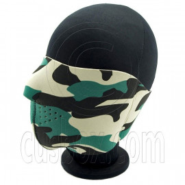 Green Camo War Game Neoprene Half Face Mask Biker Motorcycles