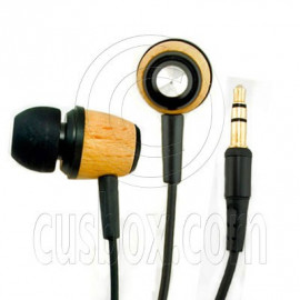 Wood 3.5mm In-Ear Stereo Headphones for Apple iPod