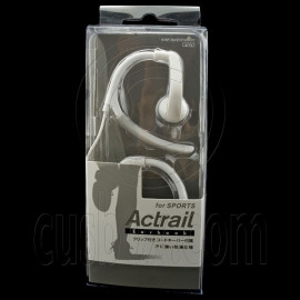 White 3.5mm Flex Clip Sports Earhook Headphones for Apple iPod