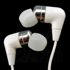 White 3.5mm In-Ear Over The Ear Earphones for Apple iPod