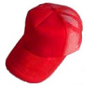 Plain Mesh Ball Cap (RED)