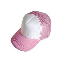 Plain Mesh Ball Cap (PINK WHITE)