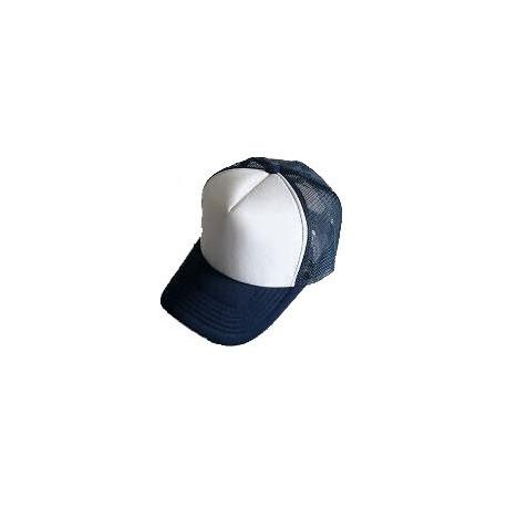 Plain Mesh Ball Cap (NAVY BLUE WHITE)