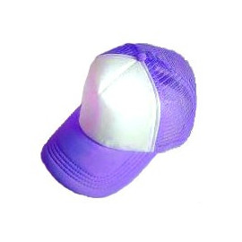 Plain Mesh Ball Cap (PURPLE WHITE)