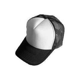 Plain Mesh Ball Cap (BLACK WHITE)
