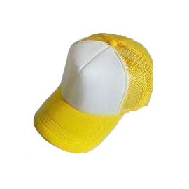Plain Mesh Ball Cap (YELLOW WHITE)