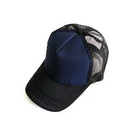 Plain Mesh Ball Cap (NAVY BLUE BLACK)