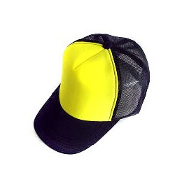 Plain Mesh Ball Cap (YELLOW BLACK)