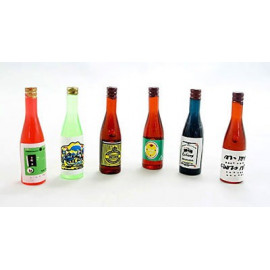 Lot/Set 6 Wine Beer Drinks Bottle Dollhouse Miniature