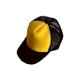 Plain Mesh Ball Cap N02 (YELLOW BLACK)
