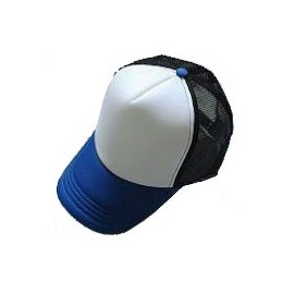 Plain Mesh Ball Cap N02 (BLUE WHITE BLACK)