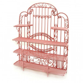 Pink Wire Jewelry Earring Display Holder Doll Dollhouse