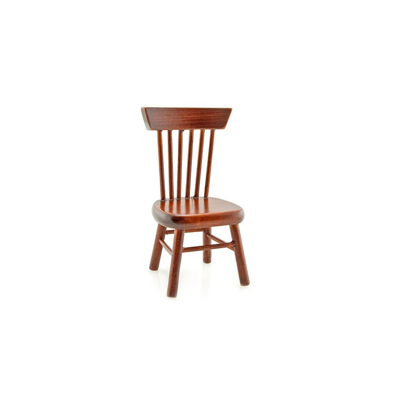 mahogany wood stool chair dollhouse miniature furniture
