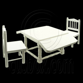 Kitchen Folding Table 2 Chairs Dollhouse Furniture Set