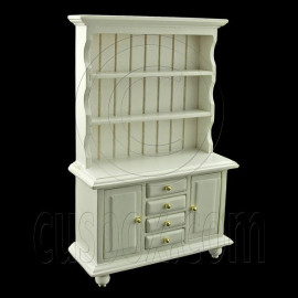 Kitchen White 1:12 Cupboard Cabinet Dollhouse Furniture