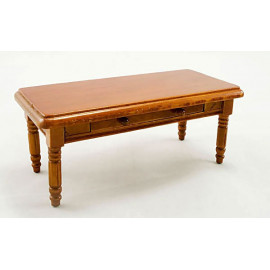 Chinese Wooden Table Desk w Drawers Dollhouse Furniture