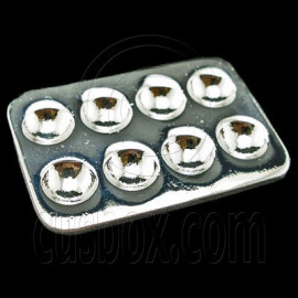 Silver Metal Egg Container New Tray Dollhouse Miniature