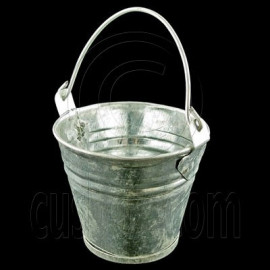 Vintage Zinc Water Bucket Pail 1:12 Dollhouse Miniature