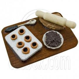 Set Kitchen Cake Making Tools 1:12 Dollhouse Miniature