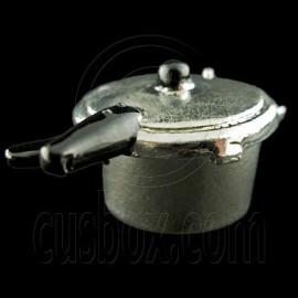 Steel Metal Pressure Cooker 1:12 Dollhouse Miniature