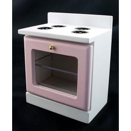 Pink Victorian Kitchen Stove Oven Dollhouse Miniature