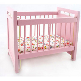 Pink Nursery Baby Room Grow Crib Dollhouse Furniture