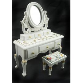 Victorian Vanity Drawer Chair Dollhouse Furniture Set