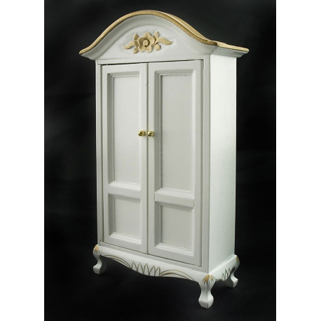 Victorian Double Door Craft Armoire Dollhouse Furniture