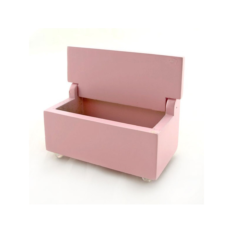 Wood Nursery Storage Box Seat Dollhouse Furniture