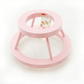 Pink Nursery Baby Walker Dollhouse Furniture Miniature