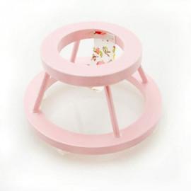 Pink Nursery Baby Walker Dollhouse Furniture Miniature