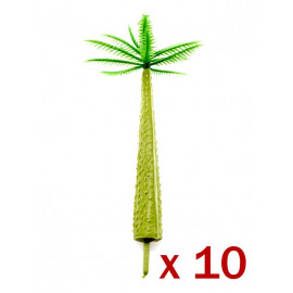 Lot 10 Coco Coconut Tree Scale Train RR Model HO OO 6cm