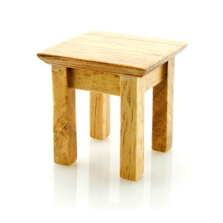 Wood Chinese Small Mini Chair Stool Dollhouse Miniature