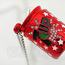 Red 7Up Coke Metal Fashion Charm Pendant Necklace
