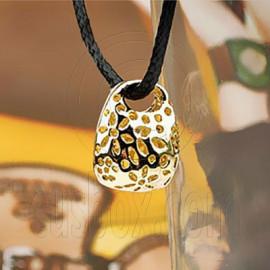 Handbag Hand Bag Golden Fashion Charm Pendant Necklace