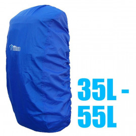 BlueField Backpack Rain Cover 35L to 55L BLUE (Medium)