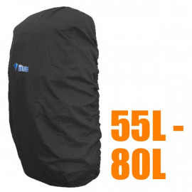 BlueField Backpack Rain Cover 55L to 80L BLACK (Large)